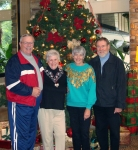 Charlene and I have been friends for over 50 years.  This was taken in December of 2008 - My husband Ed, me (Jackie John
