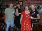 Larry Grudt, Helen (Fuller) Dangl, Carol (Peterson) Shelton, and Donna