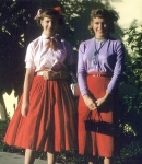 Judy Collins and Lillian Dahl - as Freshman at I.H.S. (Photo courtesy of Judy Collins)