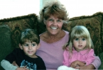 Joanne Earle Hough with her adorable grandchildren, Lauren and Tyler (2007)