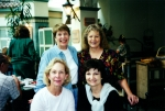 2000 Reunion - Ann Krappe and Marilee Price in the rear and Donna Phillips and Nancy Mathews in the front