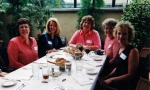 2001 Girls Reunion Luncheon - L to R - Charlotte Allen, Mary Jane Sisson, Judy Collins, Carol Peterson and Marlene Sugar