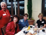 2001 Girls' Luncheon - L to R - (I don't recognize the first one (my apologies) - then Diane Kasper, Cheryl Dennee and