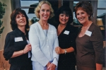 2001 Girls Luncheon - L to R - ?? , Donna Phillips, Maggie Mount and Merita Livernois