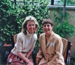 2001 Girls Luncheon - Ann Krappe and friend (sorry!)